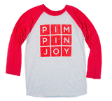#PIMPINJOY Baseball Tee- Red/White