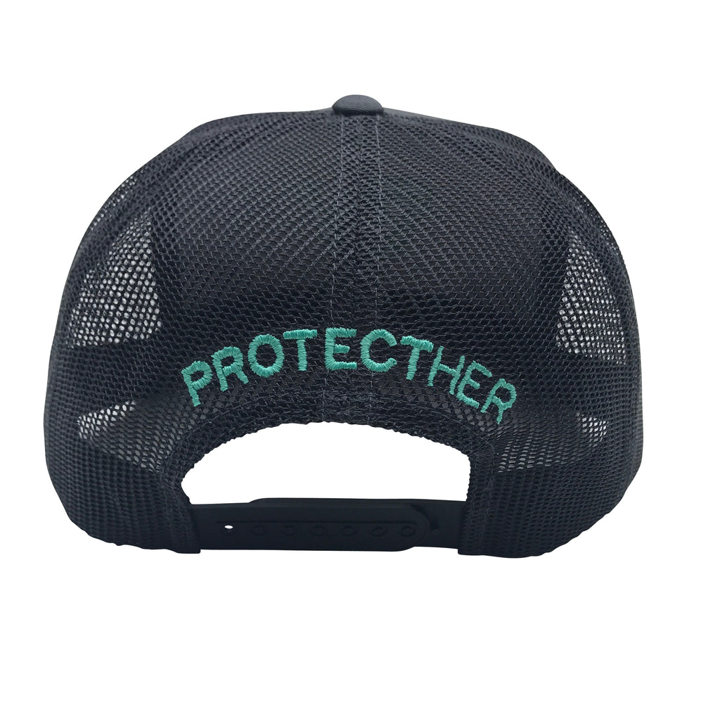 ProtectHer Trucker Hat - Charcoal & Teal