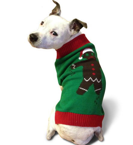 Ugly Christmas Dog Sweater - Gingerbread