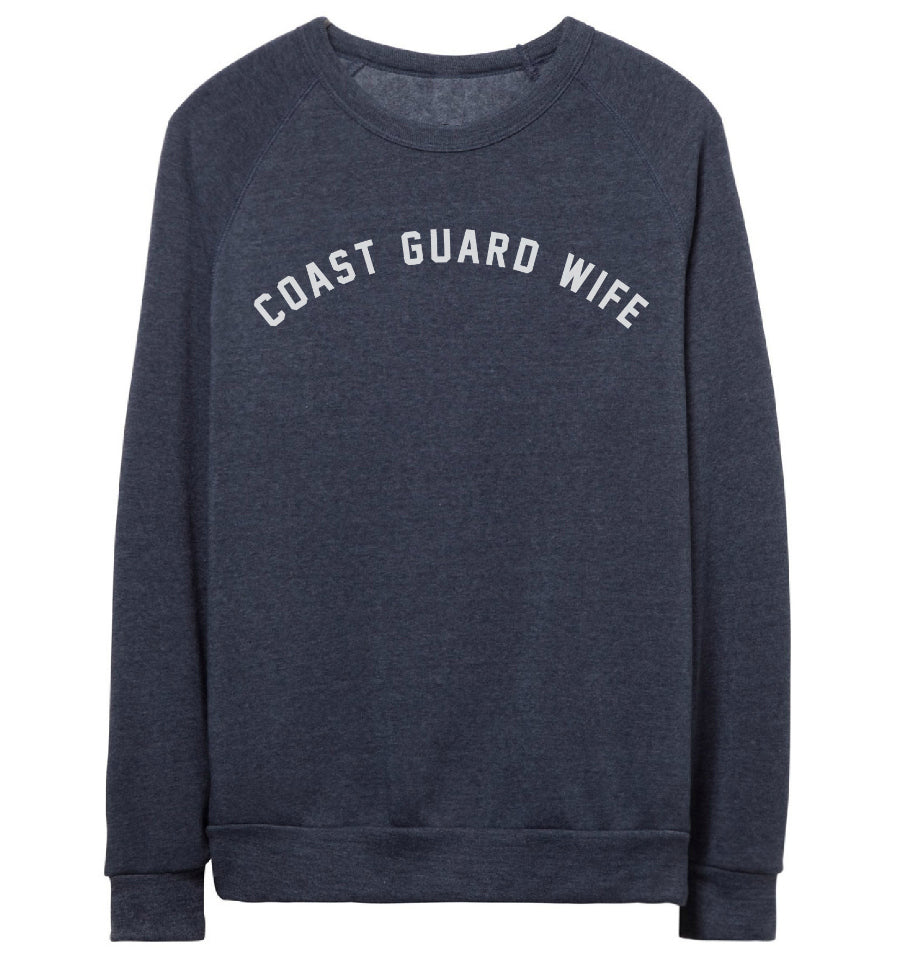 COAST GUARD WIFE Pullover Sweatshirt