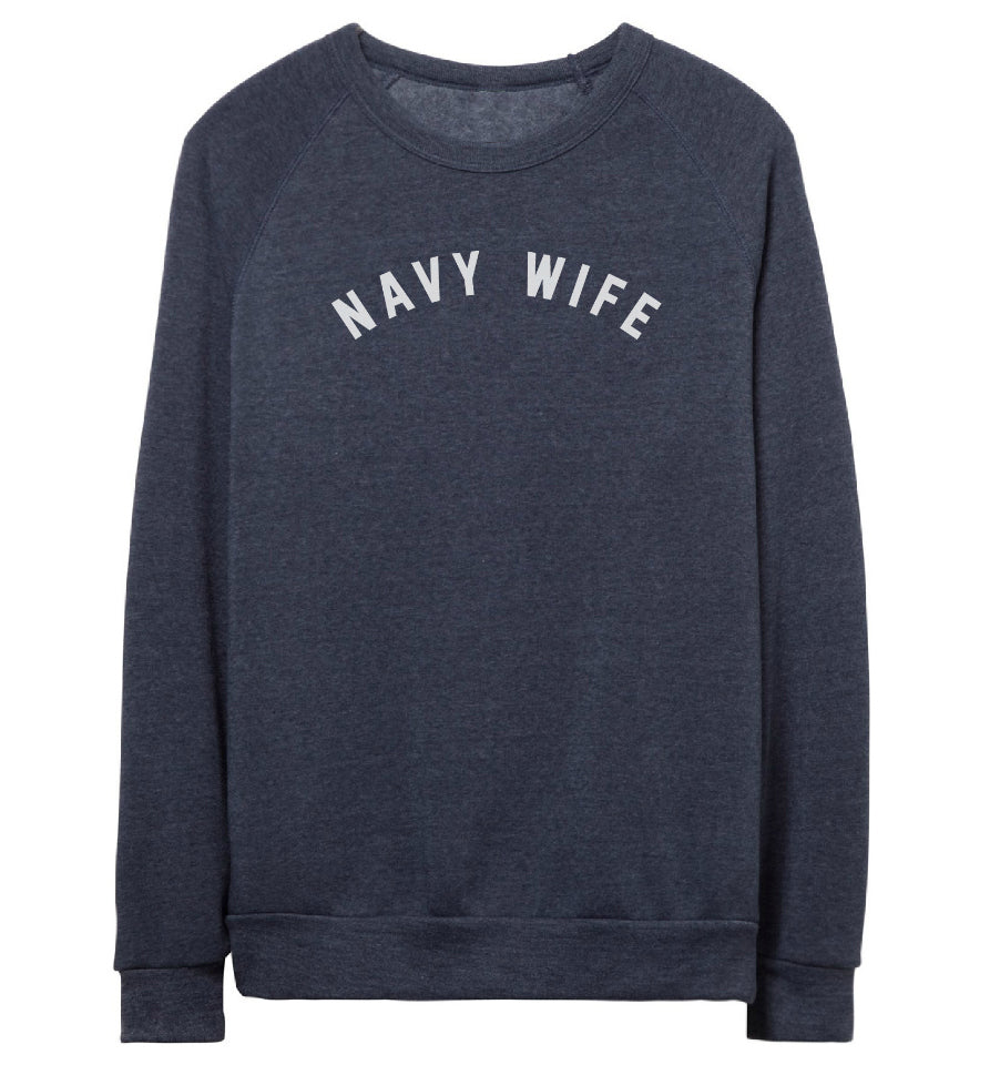 NAVY WIFE Pullover Sweatshirt
