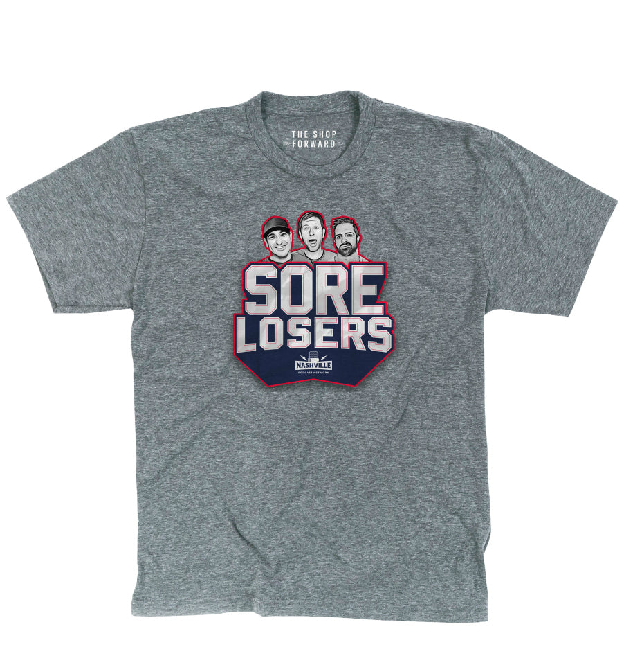 SORE LOSERS Logo Unisex T-Shirt - Grey