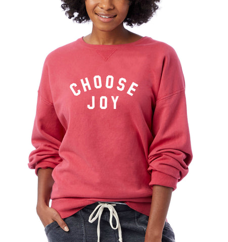 CHOOSE JOY Unisex Pullover - Faded Red