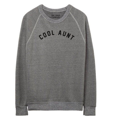 COOL AUNT Pullover Sweatshirt - Grey & Black