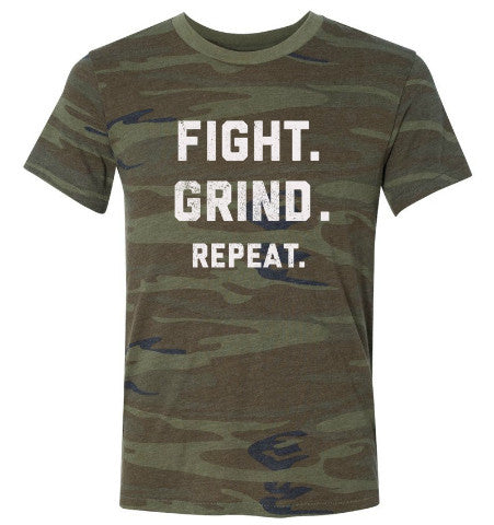 FIGHT. GRIND. REPEAT. T-Shirt - Camouflage