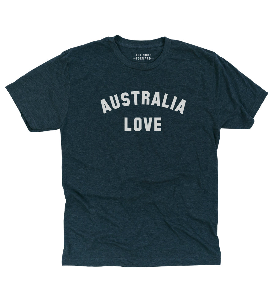 AUSTRALIA LOVE Unisex Tee - Faded Navy