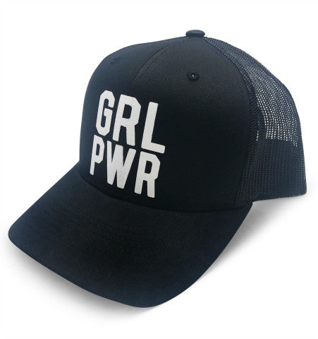 GRL PWR Hat - Solid Black
