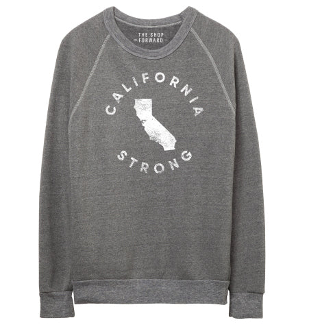 CALIFORNIA STRONG Unisex Fleece Pullover - Grey