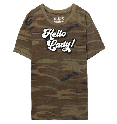 'Hello Lady' Unisex Camo T-Shirt