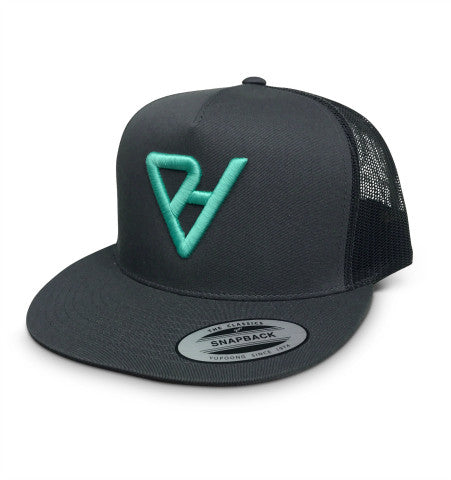bbf0a9405f261 ProtectHer Trucker Hat - Charcoal   Teal – The Shop Forward