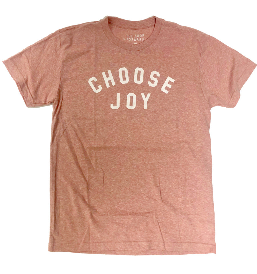 CHOOSE JOY Adult Unisex Tee - Desert Pink