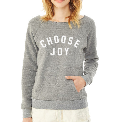 'Choose Joy' Women's Pullover Sweatshirt - Grey