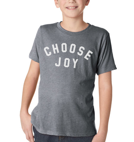 CHOOSE JOY Kids Tee - Grey