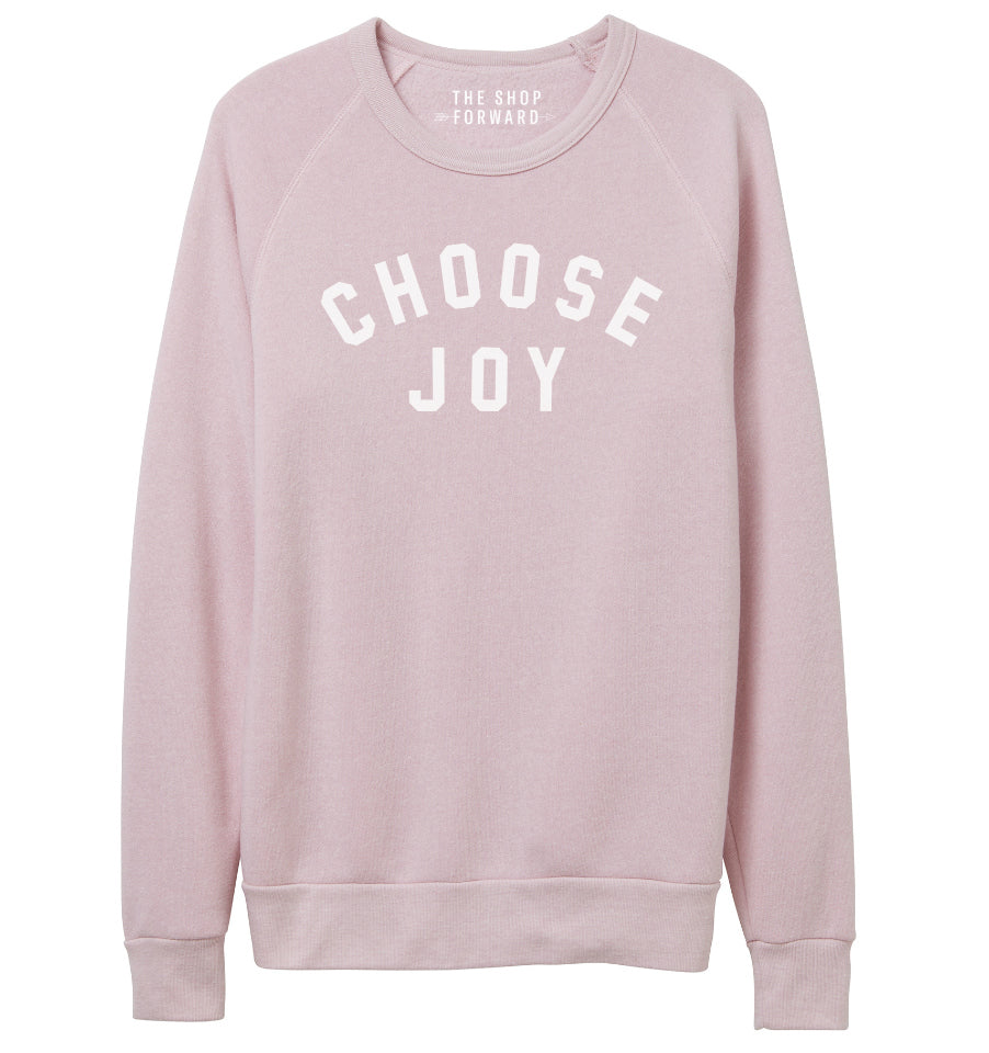 quality design 3c3c8 88339 CHOOSE JOY Unisex Pullover - Pale Pink – The Shop Forward