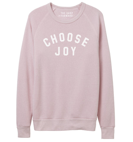 CHOOSE JOY Unisex Pullover - Pale Pink