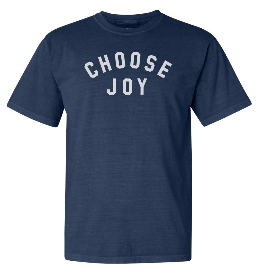 CHOOSE JOY Unisex Relaxed Fit Tee - Navy