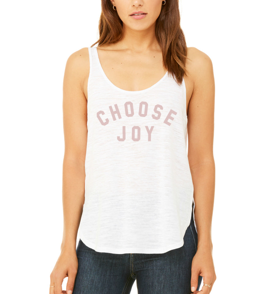 CHOOSE JOY Women's Tank - White