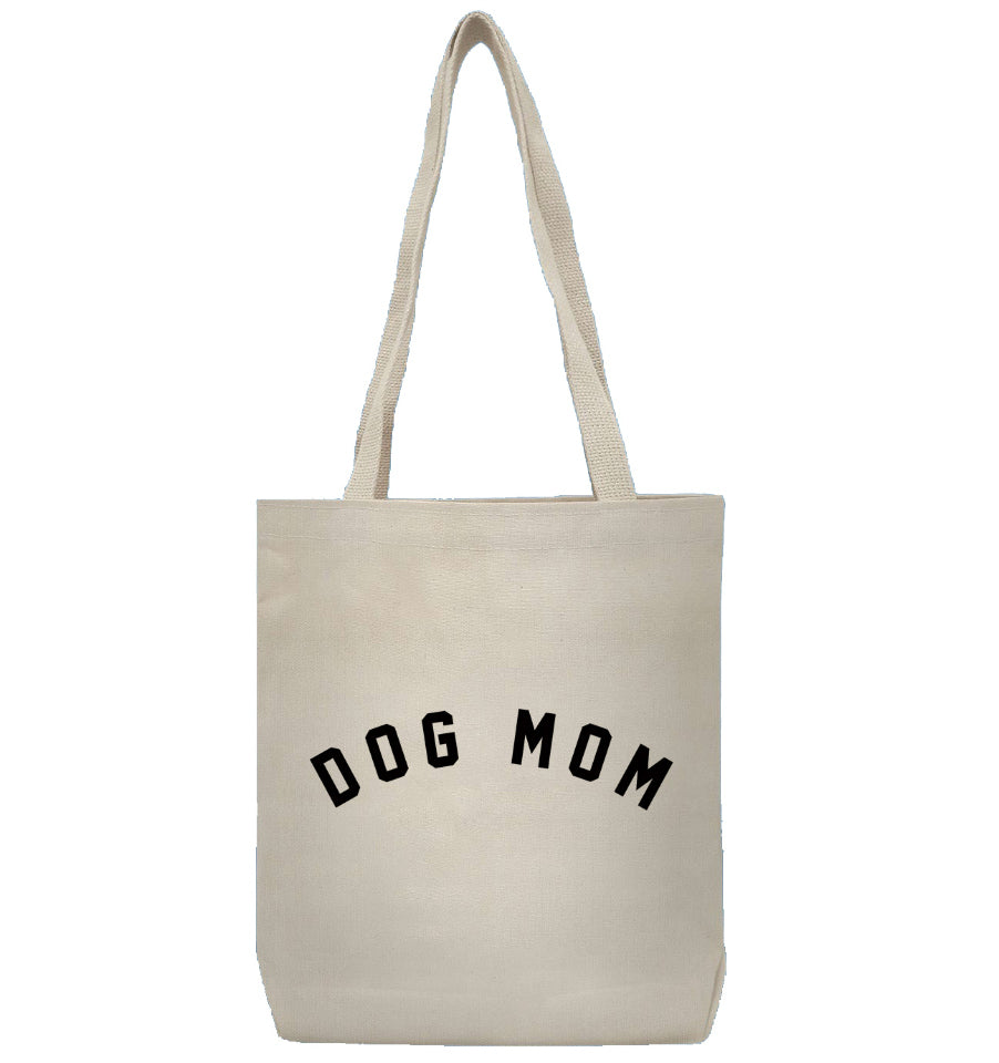 DOG MOM Canvas Tote