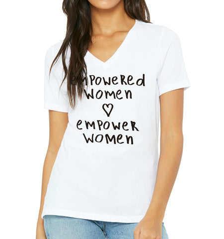 EMPOWERED WOMEN V-Neck Tee