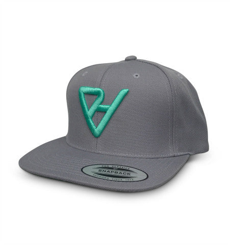 ProtectHer Flat Bill Hat - Light Grey & Teal