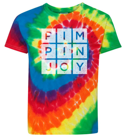 Kids #PIMPINJOY Tie Dye Tee - Red Multi