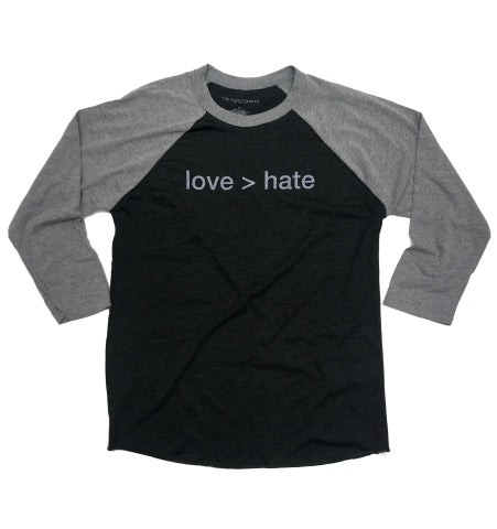 love > hate baseball tee