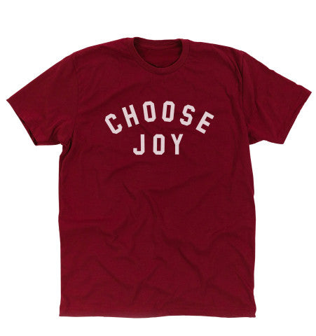 'CHOOSE JOY' Unisex Tee - Maroon