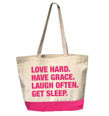 4 Things® DAILY MANTRA Tote - PINK EDITION