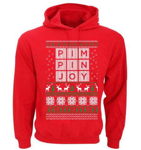 Limited Edition Christmas #PIMPINJOY Hoodie - Red