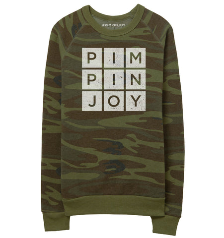 #PIMPINJOY Camouflage Unisex Pullover