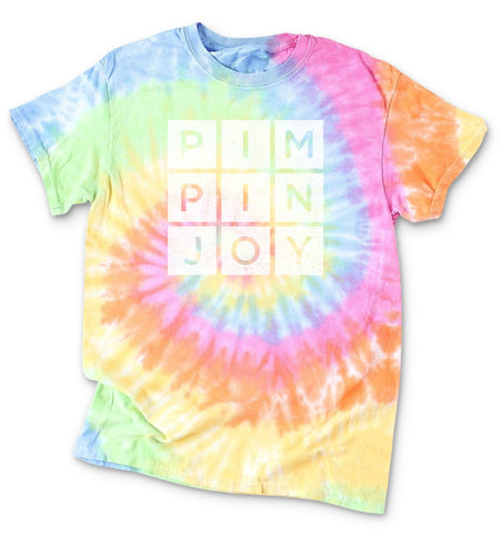#PIMPINJOY Tie Dye Adult Unisex Tee - Faded Multi