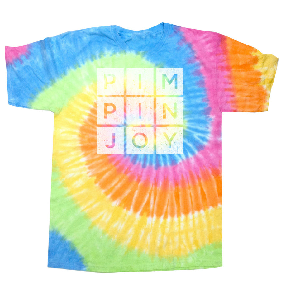 Toddler #PIMPINJOY Tie Dye Tee - Faded Multi