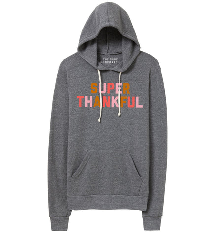 SUPER THANKFUL Unisex Hoodie - Grey Multi