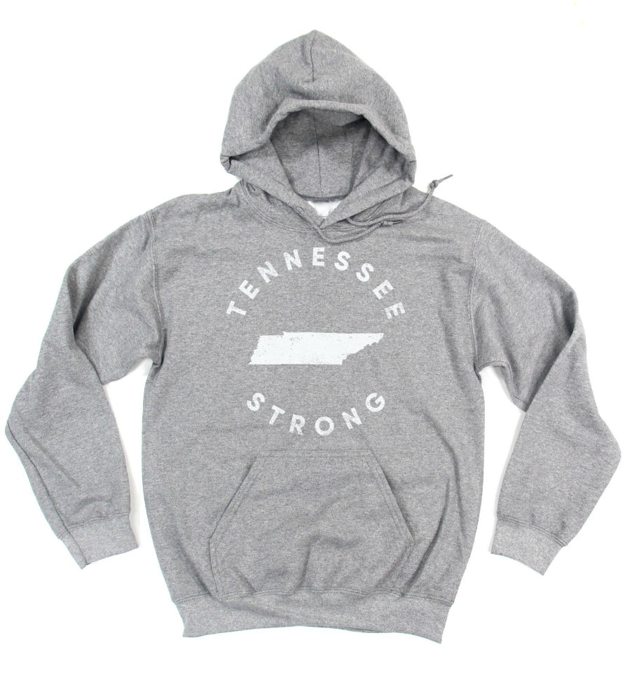 TENNESSEE STRONG Unisex Hoodie Sweatshirt - Grey
