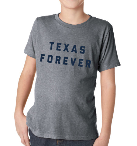 'TEXAS FOREVER® Kids T-Shirt - Grey + Navy
