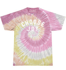 CHOOSE JOY Unisex Pastel Tie-Dye Tee