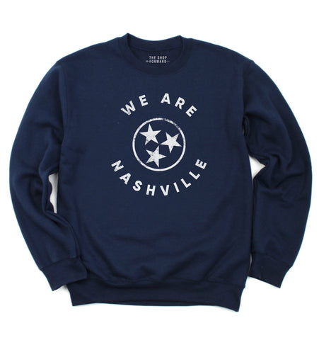 WE ARE NASHVILLE Unisex Pullover - Navy