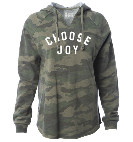 CHOOSE JOY Hoodie Tunic - Camo