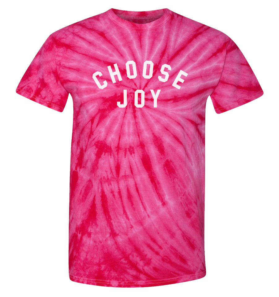 CHOOSE JOY Tie Dye T-Shirt - Pink