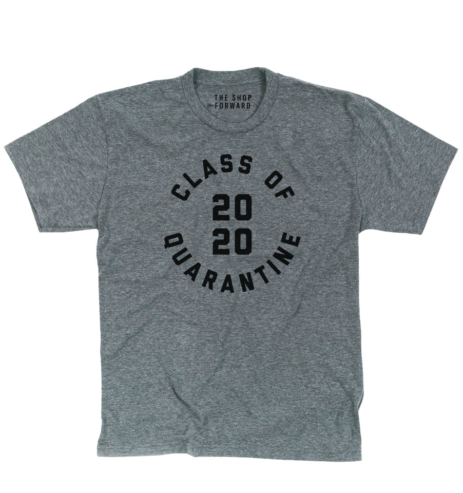 'Class of Quarantine 2020' Unisex T-Shirt - Grey & Black
