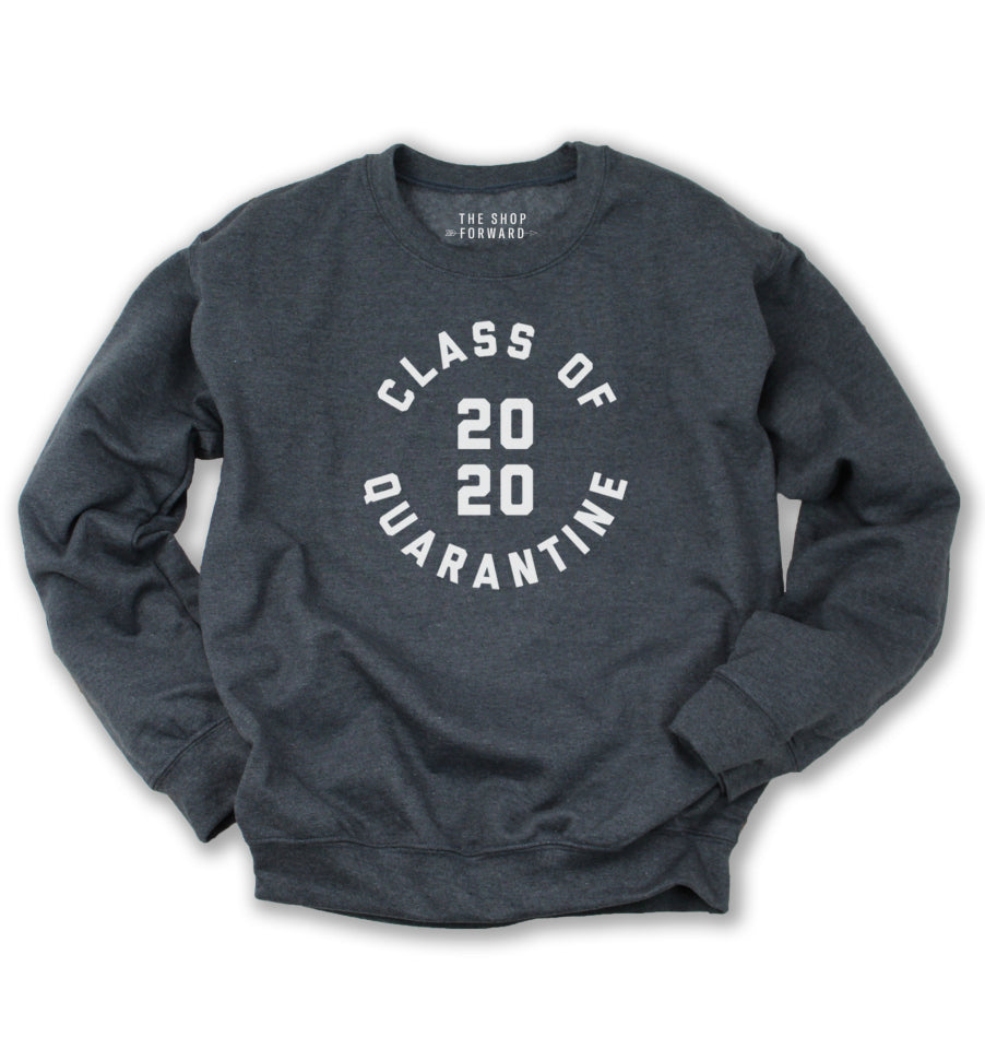 'Class of Quarantine 2020' Unisex Sweatshirt - Charcoal Heather