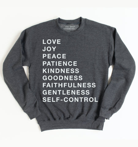 Fruit of the Spirit Unisex Pullover - Charcoal