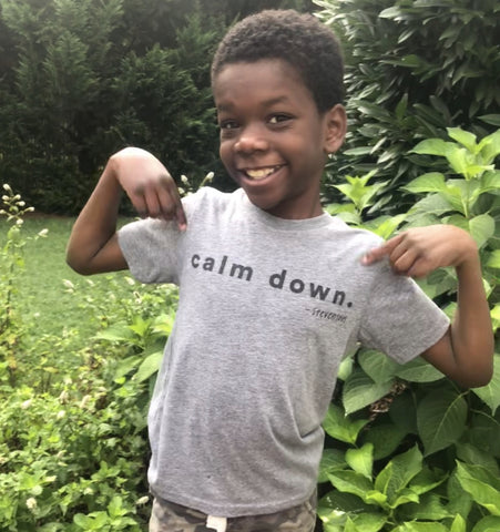 'Calm Down' T-Shirt - Kids