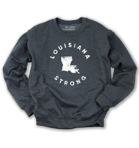 LOUISIANA STRONG Unisex Fleece Pullover
