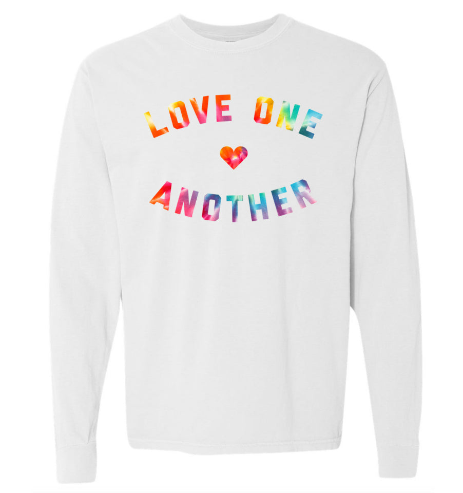 LOVE ONE ANOTHER Unisex Long Sleeve Tee - White