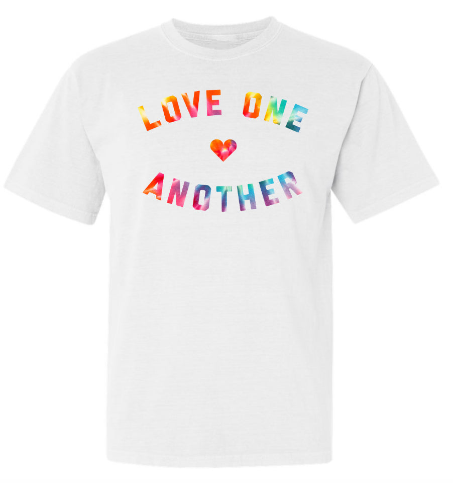 LOVE ONE ANOTHER Adult Unisex Relaxed Fit Tee - White