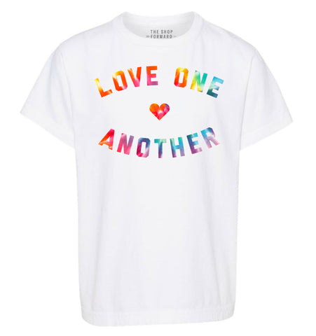 LOVE ONE ANOTHER Kids Tee - White