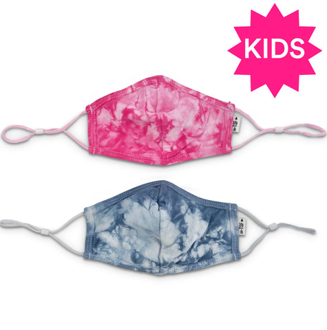 Kids Adjustable Seamed Tie Dye Mask - Single (choose color)