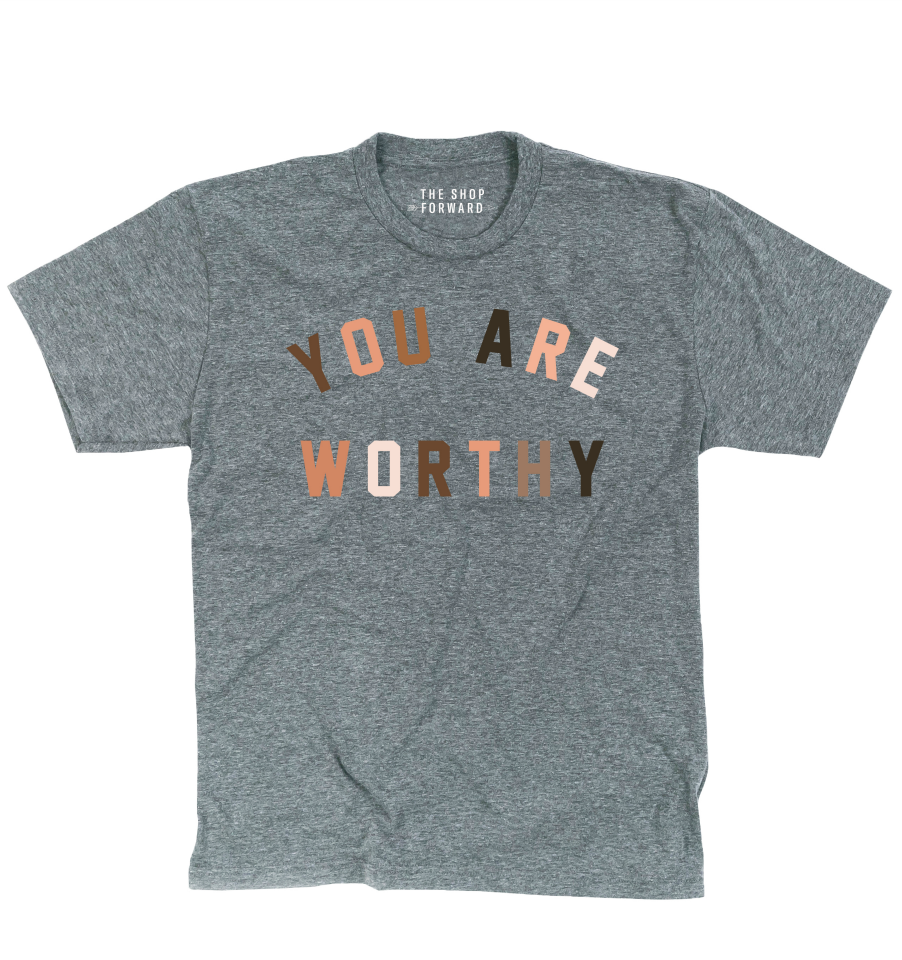 YOU ARE WORTHY Kids Tee - Grey