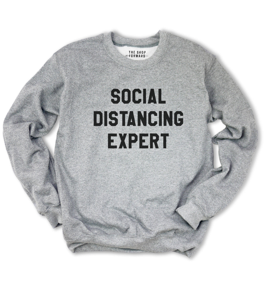 'SOCIAL DISTANCING EXPERT' Unisex Pullover